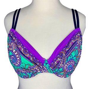Jette Bikini Top | Size DD | Paisley